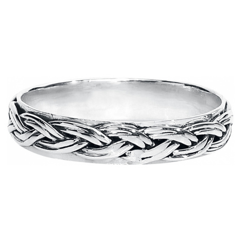 Weaving - - Ring - silver-coloured