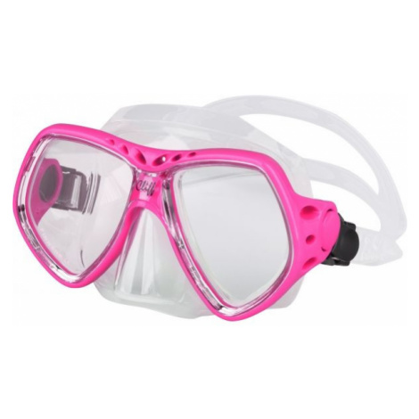 Pink equipment for swimming and diving