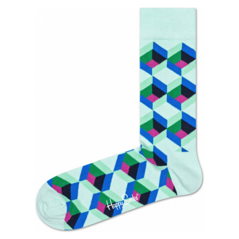 Happy Socks Optiq Square Socks Green