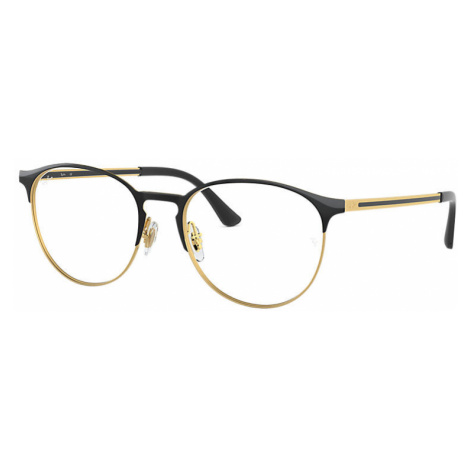 Ray-Ban Rb6375 Unisex Optical Lenses: Multicolor, Frame: Black - RB6375 2890 53-18