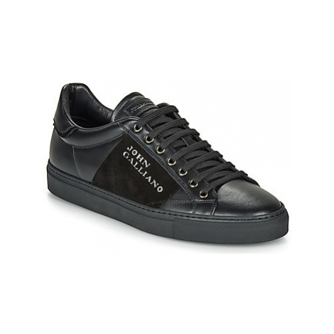 John Galliano 8548 men's Shoes (Trainers) in Black