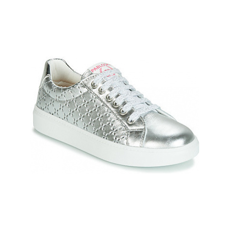 Pablosky 277050-J girls's Children's Shoes (Trainers) in Silver