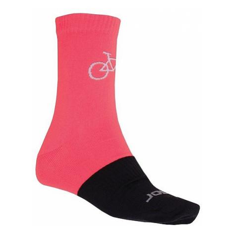 socks Sensor Tour Merino Wool - Pink/Black