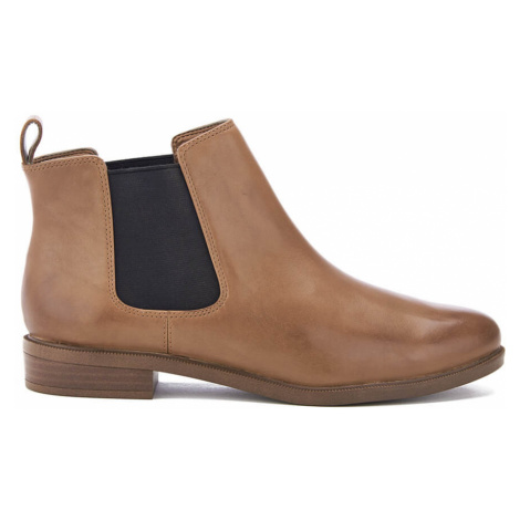 Clarks Women's Taylor Shine Leather Chelsea Boots - Tan - UK