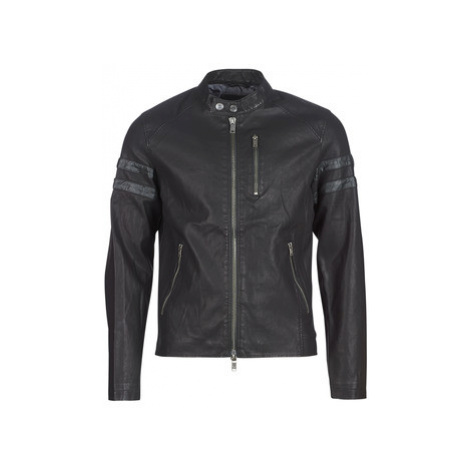 Guess COOL BIKER men's Leather jacket in Black
