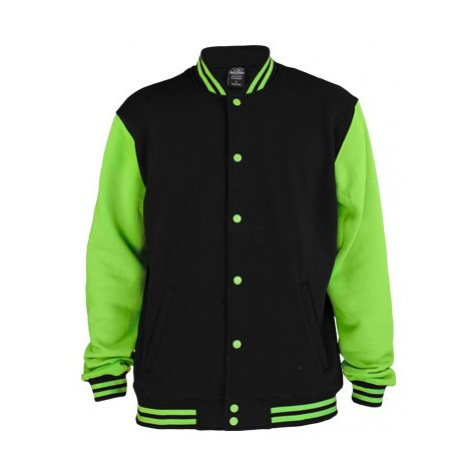 Urban Classics 2-Tone College Sweatjacket Black Green