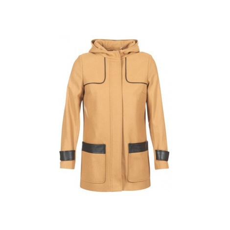Naf Naf AHOULA women's Coat in Beige