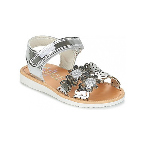 Pablosky JAJIJOU girls's Children's Sandals in Silver