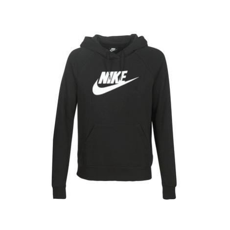 Nike W NSW ESSNTL HOODIE PO HBR women's Sweatshirt in Black