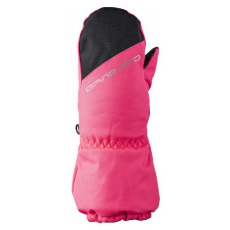 ALPINE PRO DGARO pink - Kids' winter gloves
