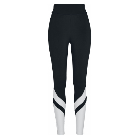 Urban Classics Ladies Arrow High Waist Leggings Leggings black white