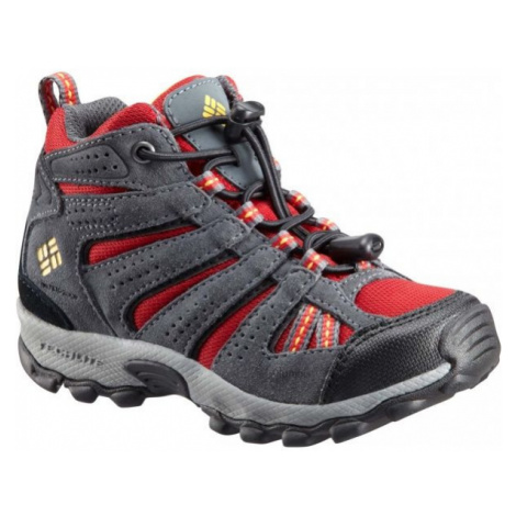 Columbia CHILDREN NORTH PLAINS MID WP red - Kids' outdoor winter shoes