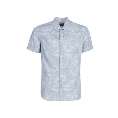 Petrol Industries SEASCAPE men's Short sleeved Shirt in Blue