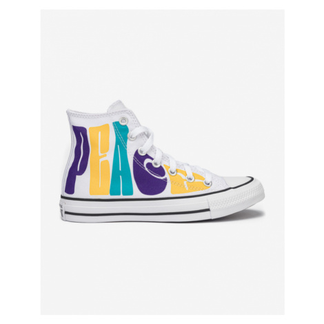 Converse Chuck Taylor All Star Peace Powered Sneakers White Colorful