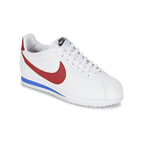Nike CLASSIC CORTEZ LEATHER W women's Shoes (Trainers) in White