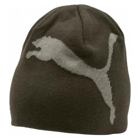 Puma ESS BIG CAT BEANIE JNR dark green - Children's hat