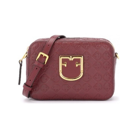 Furla Brava mini shoulder bag in textured cherry red leather women's Shoulder Bag in Red