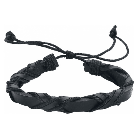 EtNox - Leather mix - Leather bracelet - black