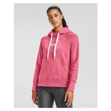 Under Armour Rival Fleece Metallic Sweatshirt Pink