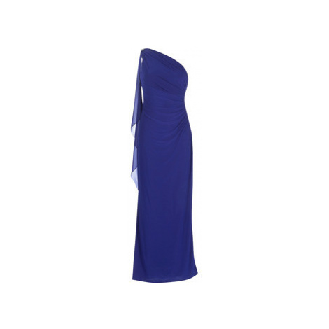 Lauren Ralph Lauren GEORGETTE CAPE GOWN women's Long Dress in Blue