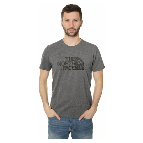 T-Shirt The North Face Woodcut Dome - Medium Gray Heather