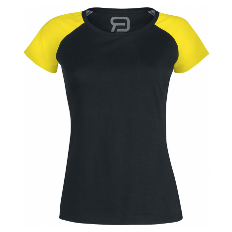 RED by EMP - Short Raglan Road - Girls shirt - black-yellow