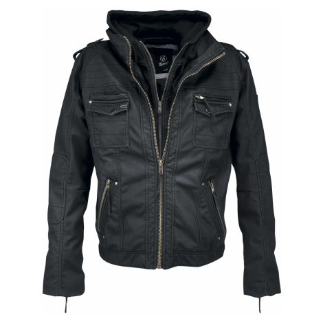 Brandit - Black Rock - Imitation leather jacket - black
