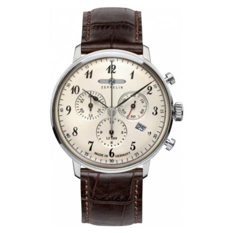 Mens Zeppelin Hindenburg Chronograph Watch 7086-4