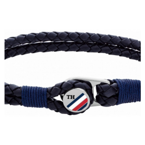 Gents Tommy Hilfiger Jewellery Leather Button Leather Bracelet 2790221S