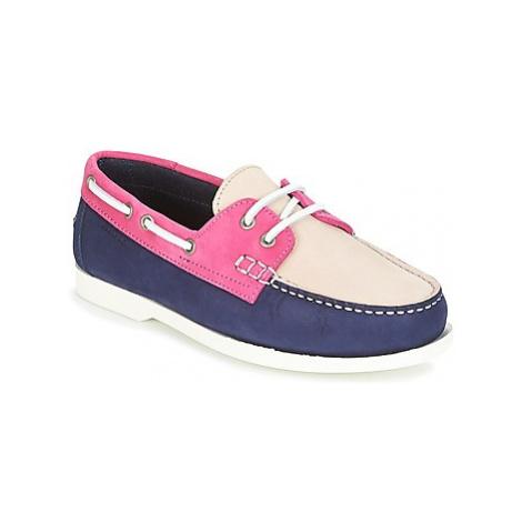 Aigle HAVSON W women's Boat Shoes in Blue
