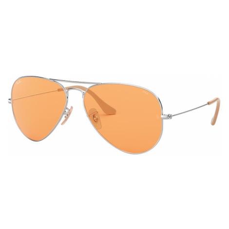 Ray Ban Man RB3025 AVIATOR EVOLVE - Frame color: Silver, Lens color: Orange, Size 58-14/135