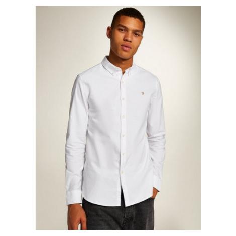 Mens Farah White 'Brewer' Slim Long Sleeve Shirt*, White