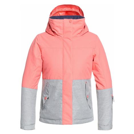 jacket Roxy Jetty Block - MHG0/Shell Pink - girl´s