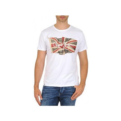 Pepe jeans FLAG LOGO men's T shirt in White