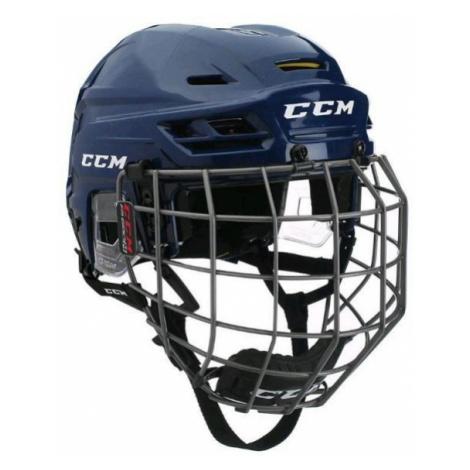 CCM TACKS 310C SR COMBO dark blue - Hockey helmet