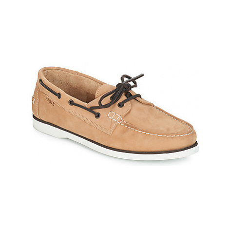 Aigle HAVSON men's Boat Shoes in Brown