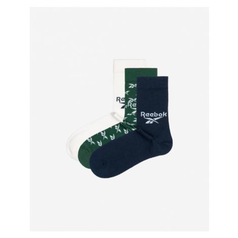 Reebok Set of 3 pairs of socks Blue Green White