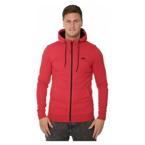 sweatshirt 4F H4L19-BLM004 Zip - 62S/Red - men´s