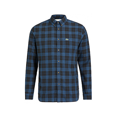 Lacoste Regular Fit Cotton Twill Check Shirt