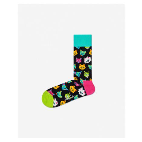 Happy Socks Funny Cat Socks Black Colorful
