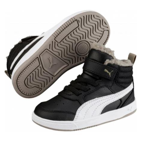Puma REBOUND STREET V2 FUR PS black - Kids' winter shoes