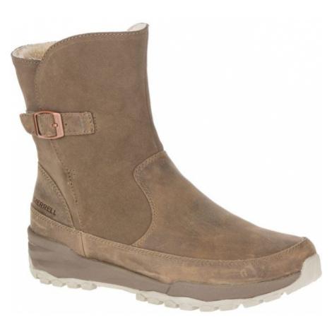Merrell ICEPACK GUIDE BUCKLE PLR WP beige - Women's winter shoes