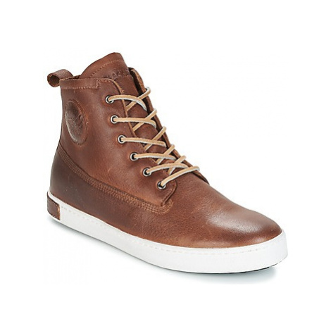 Blackstone INCH WORKER ON FOXING FUR men's Shoes (High-top Trainers) in Brown