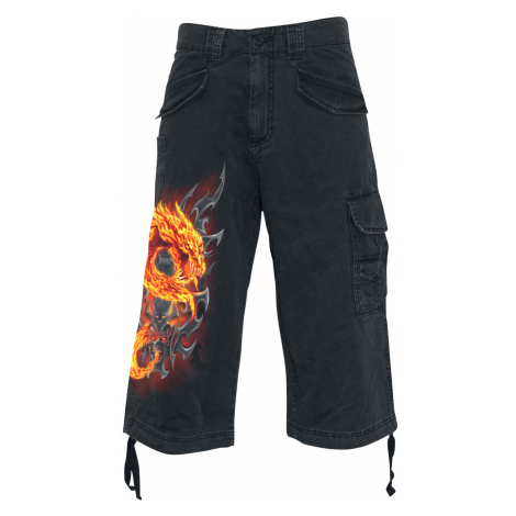 Spiral - Fire Dragon - Vintage shorts - black