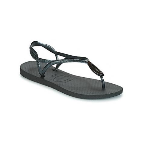 Havaianas LUNA SPECIAL women's Flip flops / Sandals (Shoes) in Black
