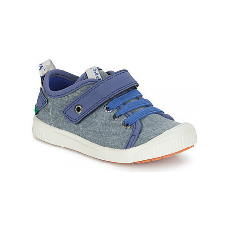 Kickers ZHOU boys's Children's Shoes (Trainers) in Blue