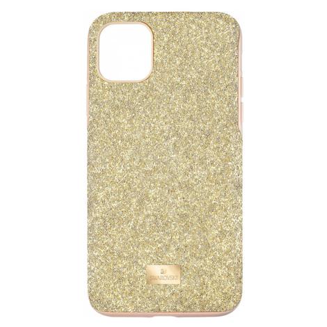 High Smartphone Case with Bumper, iPhone® 11 Pro Max, Gold tone Swarovski