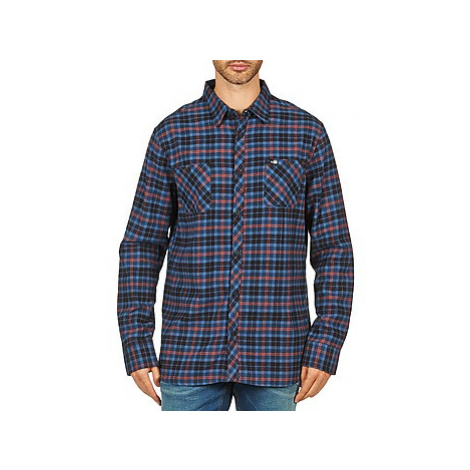 Rip Curl OBSESSED CHECK FLANNEL L/S SHIRT men's Long sleeved Shirt in Blue