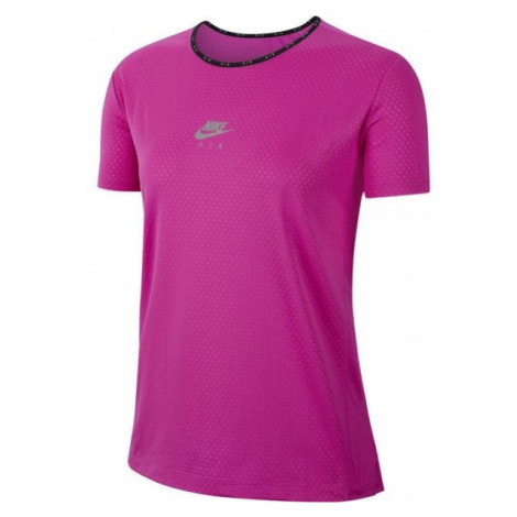Nike AIR TOP SS W pink - Women's running T-shirt