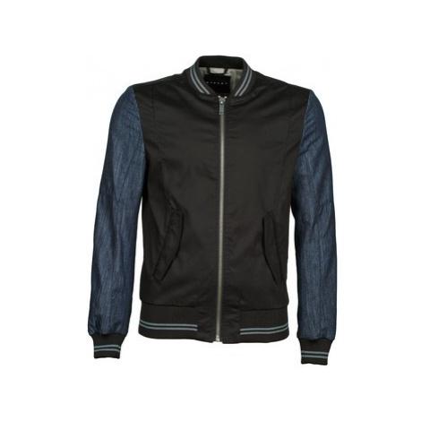 Sisley 2ID2533A9 men's Jacket in Black
